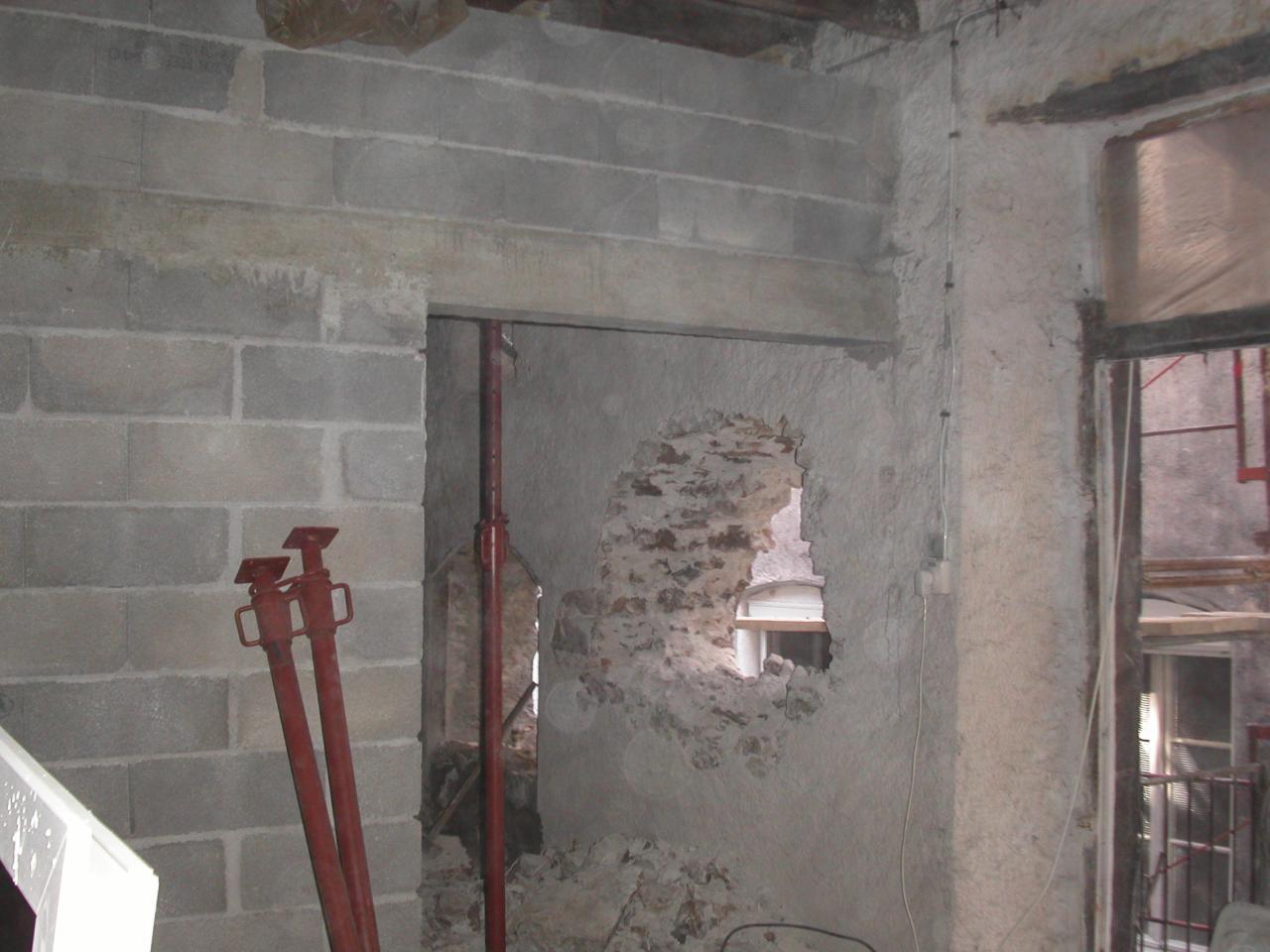 2109 mur de refend et percée fenêtres