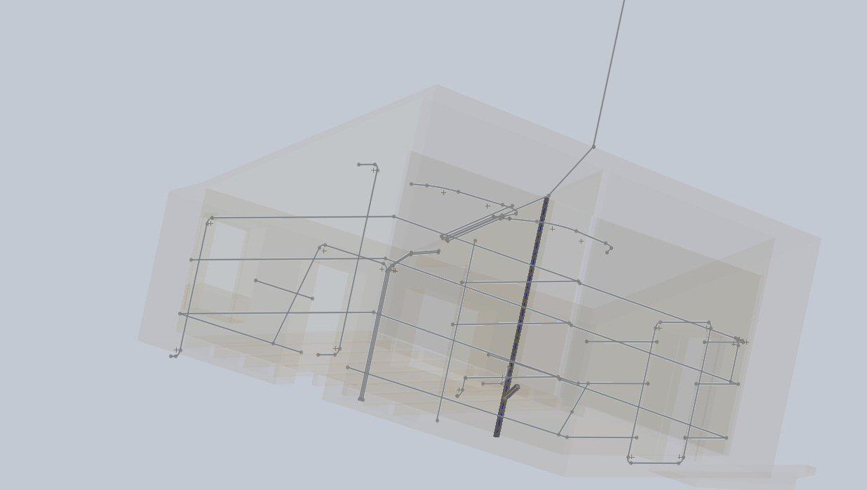 X00112 Prétubage ELEC et RESEAUX Schéma 3D