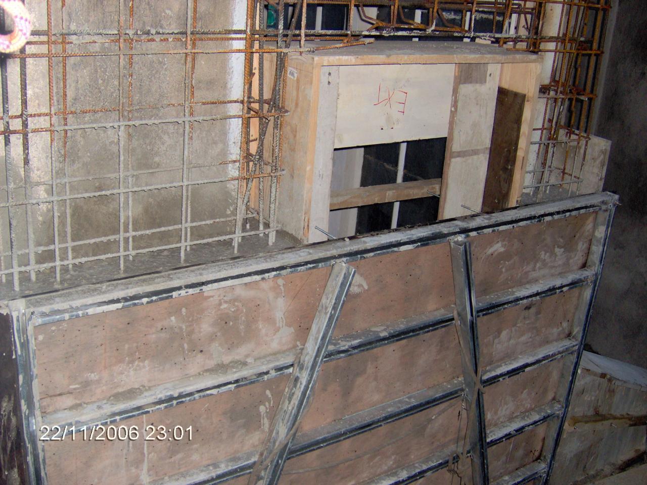 X08176 Coffrage contrefort balcons