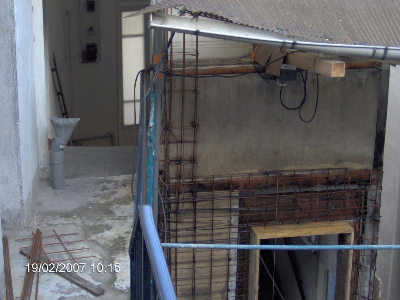 X08434 Ferraillage contrefort balcons