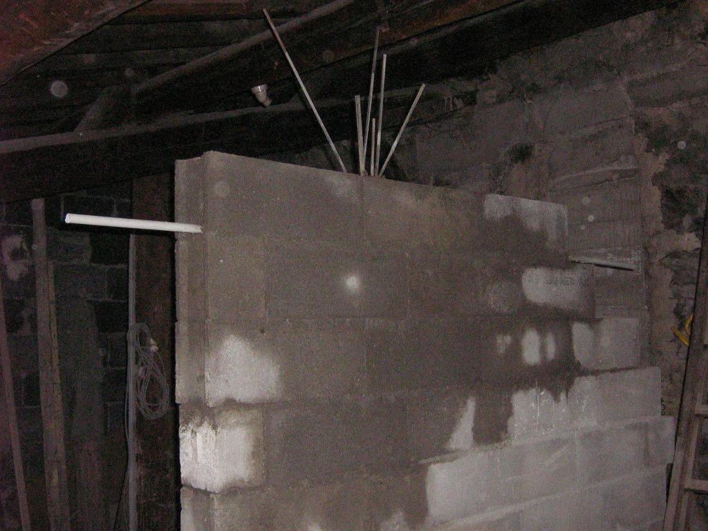 X09633 mur de refend et pré-tubage électrique