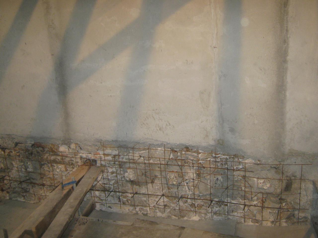 X12666 Crépissage sous ligne plancher