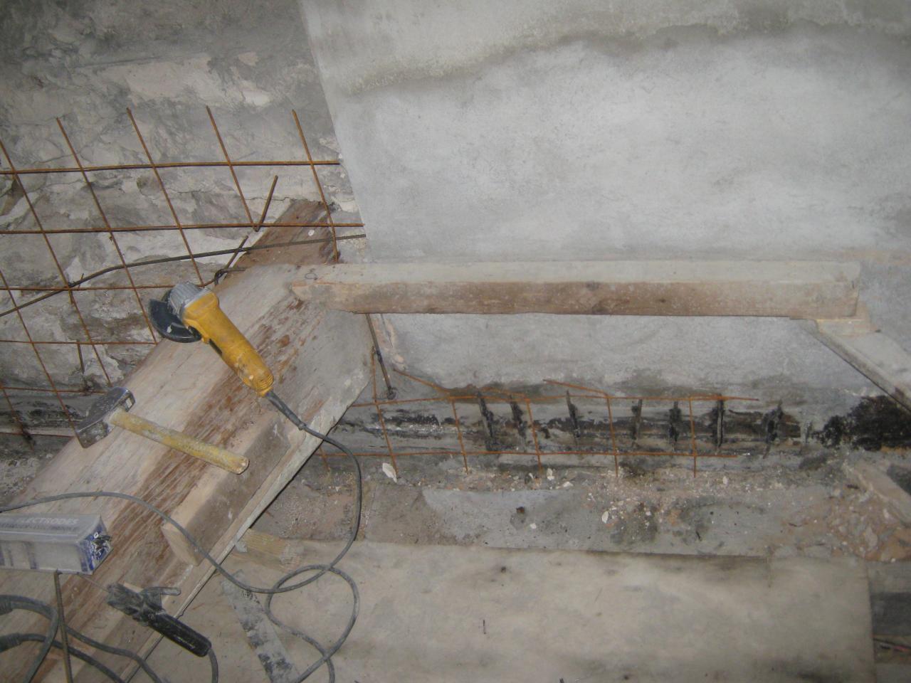 X12693 Crépissage sous ligne plancher